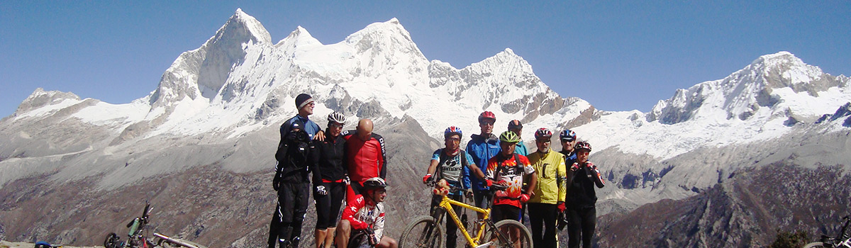 Peru Expeditions Tours: Mountainbike Trans-Cordillera Blanca Huascaran-Circuit. one of the most spectacular trips on 2 wheels
