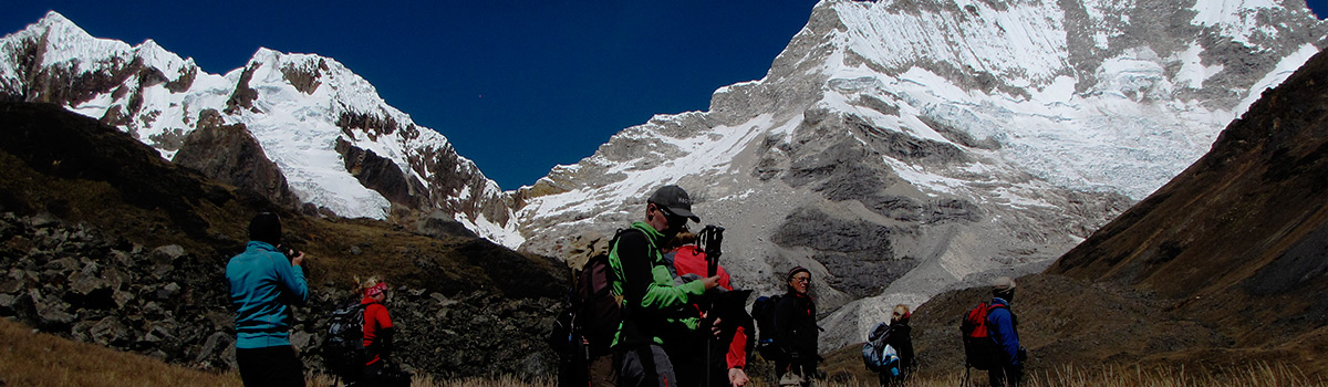Peru Expeditions Tours: Trekking Cedros around the Nevados Alpamayo & Huascaran and Climbing Nevado Vallunaraju (5686 m)